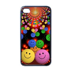 Smiley Laugh Funny Cheerful Apple Iphone 4 Case (black) by Nexatart