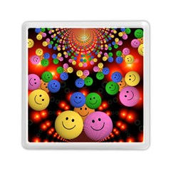 Smiley Laugh Funny Cheerful Memory Card Reader (square)  by Nexatart