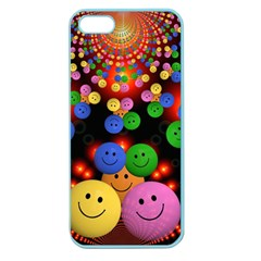 Smiley Laugh Funny Cheerful Apple Seamless Iphone 5 Case (color) by Nexatart