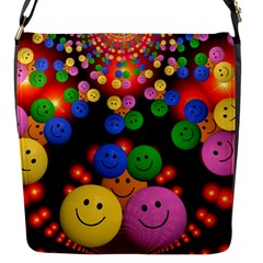 Smiley Laugh Funny Cheerful Flap Messenger Bag (s)