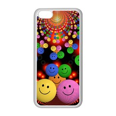 Smiley Laugh Funny Cheerful Apple Iphone 5c Seamless Case (white)