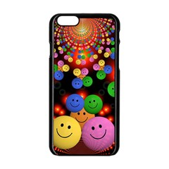 Smiley Laugh Funny Cheerful Apple Iphone 6/6s Black Enamel Case by Nexatart