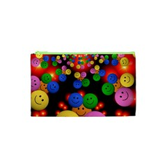 Smiley Laugh Funny Cheerful Cosmetic Bag (xs) by Nexatart
