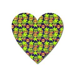 Smiley Background Smiley Grunge Heart Magnet