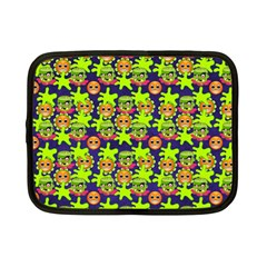 Smiley Background Smiley Grunge Netbook Case (small)