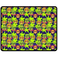 Smiley Background Smiley Grunge Fleece Blanket (medium)