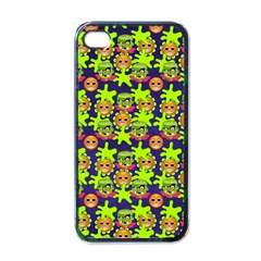 Smiley Background Smiley Grunge Apple Iphone 4 Case (black)
