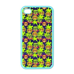 Smiley Background Smiley Grunge Apple Iphone 4 Case (color)