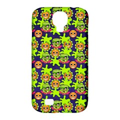 Smiley Background Smiley Grunge Samsung Galaxy S4 Classic Hardshell Case (pc+silicone)