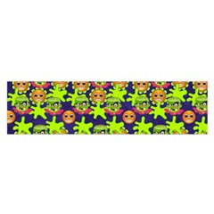 Smiley Background Smiley Grunge Satin Scarf (oblong) by Nexatart