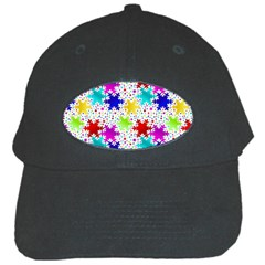 Snowflake Pattern Repeated Black Cap
