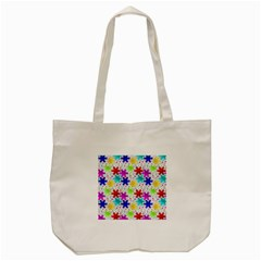 Snowflake Pattern Repeated Tote Bag (cream)