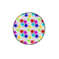 Snowflake Pattern Repeated Hat Clip Ball Marker (10 pack)