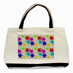 Snowflake Pattern Repeated Basic Tote Bag by Nexatart