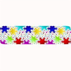 Snowflake Pattern Repeated Large Bar Mats