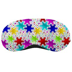Snowflake Pattern Repeated Sleeping Masks by Nexatart