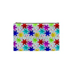 Snowflake Pattern Repeated Cosmetic Bag (small)  by Nexatart