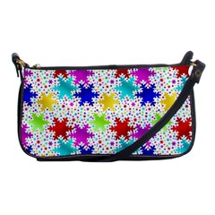 Snowflake Pattern Repeated Shoulder Clutch Bags by Nexatart
