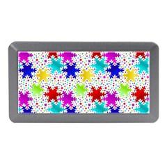 Snowflake Pattern Repeated Memory Card Reader (mini) by Nexatart