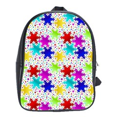 Snowflake Pattern Repeated School Bags (xl)  by Nexatart