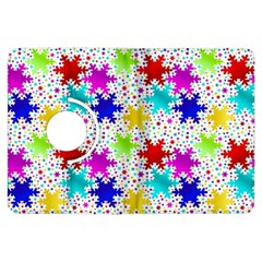 Snowflake Pattern Repeated Kindle Fire Hdx Flip 360 Case by Nexatart
