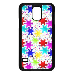 Snowflake Pattern Repeated Samsung Galaxy S5 Case (black)