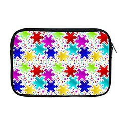 Snowflake Pattern Repeated Apple Macbook Pro 17  Zipper Case by Nexatart