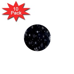 Snowflake Snow Snowing Winter Cold 1  Mini Magnet (10 Pack)