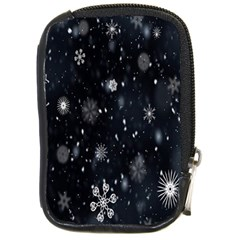 Snowflake Snow Snowing Winter Cold Compact Camera Cases by Nexatart