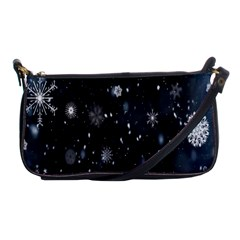 Snowflake Snow Snowing Winter Cold Shoulder Clutch Bags by Nexatart