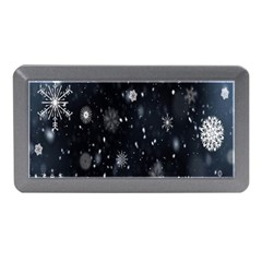 Snowflake Snow Snowing Winter Cold Memory Card Reader (mini)