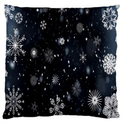 Snowflake Snow Snowing Winter Cold Large Cushion Case (one Side)