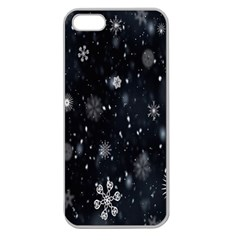 Snowflake Snow Snowing Winter Cold Apple Seamless Iphone 5 Case (clear)