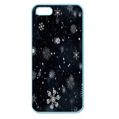 Snowflake Snow Snowing Winter Cold Apple Seamless Iphone 5 Case (color)