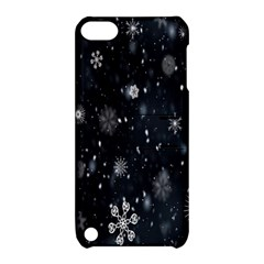 Snowflake Snow Snowing Winter Cold Apple Ipod Touch 5 Hardshell Case With Stand by Nexatart