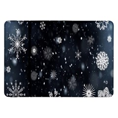 Snowflake Snow Snowing Winter Cold Samsung Galaxy Tab 8 9  P7300 Flip Case by Nexatart