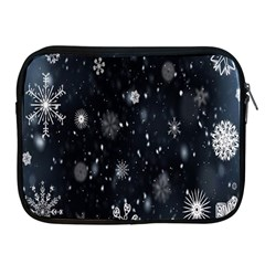 Snowflake Snow Snowing Winter Cold Apple Ipad 2/3/4 Zipper Cases