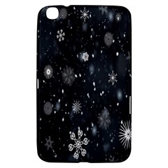 Snowflake Snow Snowing Winter Cold Samsung Galaxy Tab 3 (8 ) T3100 Hardshell Case  by Nexatart