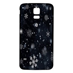 Snowflake Snow Snowing Winter Cold Samsung Galaxy S5 Back Case (white)