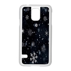 Snowflake Snow Snowing Winter Cold Samsung Galaxy S5 Case (white)