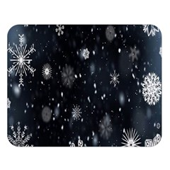 Snowflake Snow Snowing Winter Cold Double Sided Flano Blanket (large)  by Nexatart
