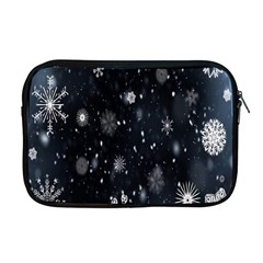Snowflake Snow Snowing Winter Cold Apple Macbook Pro 17  Zipper Case by Nexatart