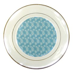 Snowflakes Winter Christmas Porcelain Plates by Nexatart