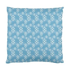 Snowflakes Winter Christmas Standard Cushion Case (one Side) by Nexatart