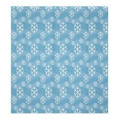Snowflakes Winter Christmas Shower Curtain 66  X 72  (large)  by Nexatart