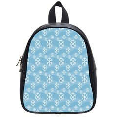 Snowflakes Winter Christmas School Bags (small)