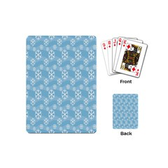 Snowflakes Winter Christmas Playing Cards (mini)  by Nexatart