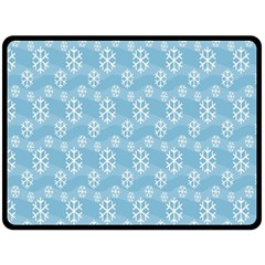 Snowflakes Winter Christmas Double Sided Fleece Blanket (large)