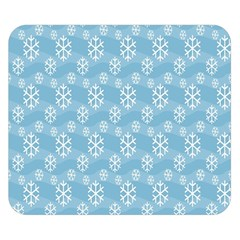 Snowflakes Winter Christmas Double Sided Flano Blanket (small)