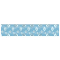 Snowflakes Winter Christmas Flano Scarf (small)